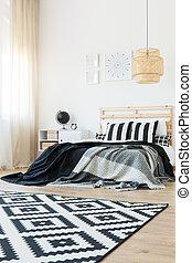 Trendy bachelor's bedroom