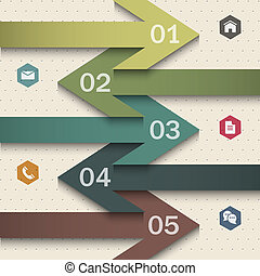 Trendy banner-arrow design for infographics,websit e...