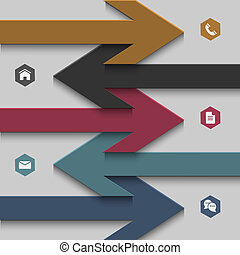 Trendy banner-arrow design for website templates