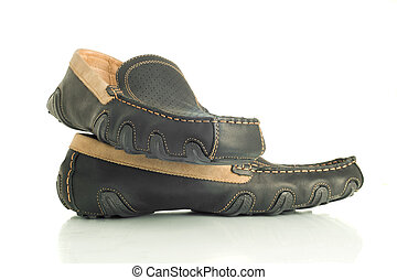 Trendy black mens shoes moccasins