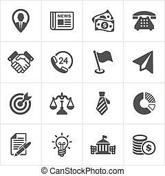 Trendy business and economics icons set 1. Vector