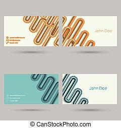 Trendy business card template. Flat design. minimalism