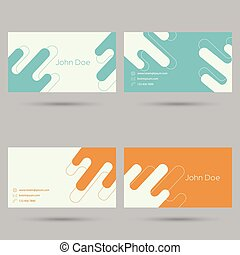 Trendy business card template. Flat design. minimalism....