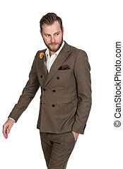 Trendy businessman in suit