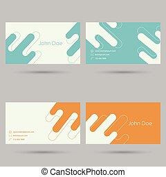 trendy, cartão negócio, template.