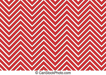 Trendy chevron patterned background red and white
