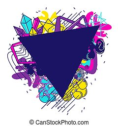 Trendy colorful background. Abstract modern color elements in graffiti style