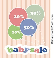 Trendy colorful baloons with discounts for baby sale