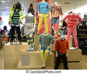 Fashion dummy dressed in trendy comfortable kids clothing