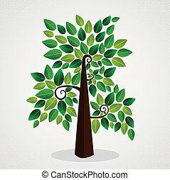Trendy concept tree design