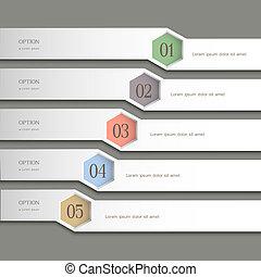 Trendy Design template. Vector website layout