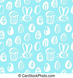 Trendy Easter Seamless Pattern