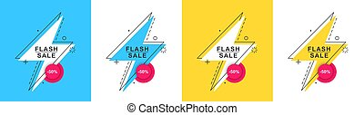 Trendy flash sale banner.