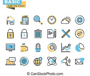 Basic icons for websites
