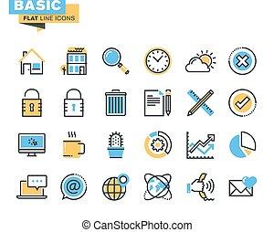 Basic icons for websites