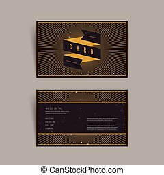 trendy geometric element business card