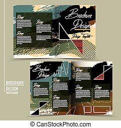 trendy half-fold brochure template design