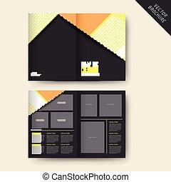 trendy half-fold template design