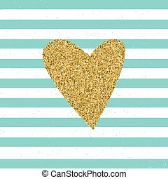 Trendy hearts color vector on striped background.