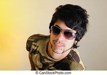 Trendy hispanic man