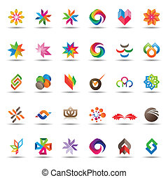 Trendy Icons - Large set of colorful and trendy icons