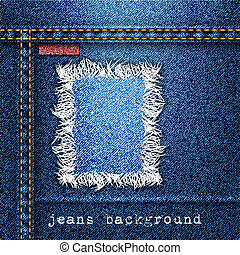 Trendy jeans background