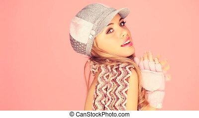 Trendy Lady In Winter Fashion