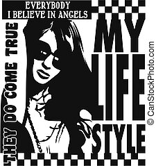 trendy lady poster design