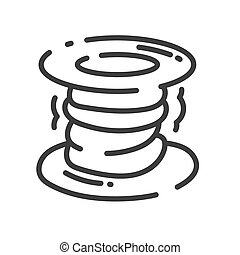 trendy line style icon about sewing toys - spool of thread