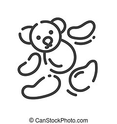 icon about sewing toys - teddy bear pieces for sewing