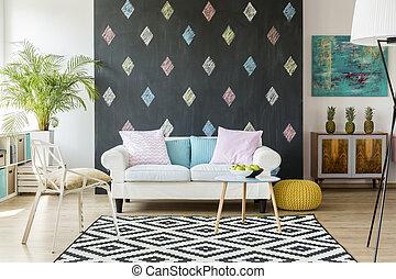 Trendy living room idea - New design apartment with ...