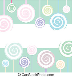 Lollipop Background - Trendy Lollipop Background in pastel...