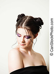 Trendy makeup for a young girl
