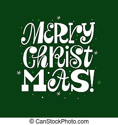 Trendy Merry Christmas typography card