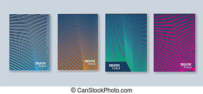 Trendy Minimal cover design layout template. Vector...