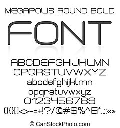 Trendy modern elegant bold font alphabet with upper case and...