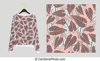 Trendy modern print for fabrics and textiles. Seamless ...