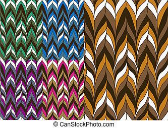 trendy, padrão, seamless