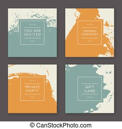 Trendy Paint Splash Card Templates