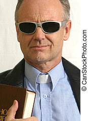 Trendy Pastor with Bible