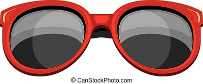 Trendy red sunglasses isolated on the white. Vector ...