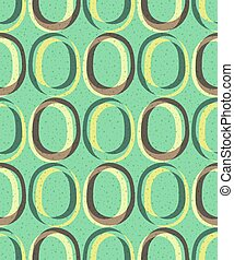 Trendy retro seamless pattern - Pattern in the style of the...