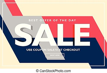 trendy sale poster banner design template
