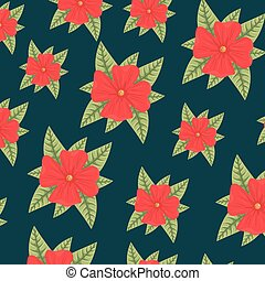 trendy seamless floral pattern background