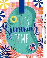Trendy summer poster