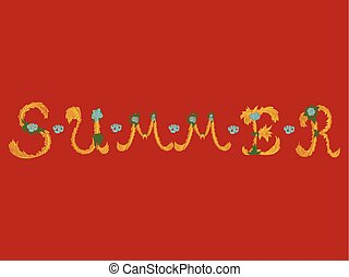 Trendy Summer Tropical Vector Design