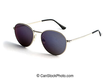 Trendy sunglasses in the form of drops isolated on white background
