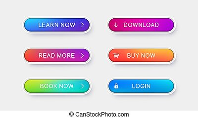 Trendy vector buttons for web design.