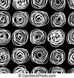 trendy, vetorial, pattern., seamless, modernos, círculo
