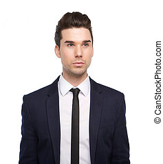Trendy young man with jacket and tie